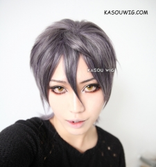 SALE! Diabolik Lovers Sakamaki Reiji  short layers gray ombre cosplay wig, ouji style