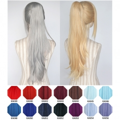 KA039 - KA056 A-2/ 62cm layered straight clip-on ponytail