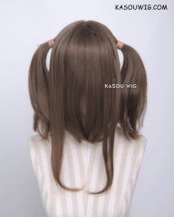"M-2 / KA025 ┇ 50CM / 19.7"" Raw Umber pigtails base wig with long bangs."