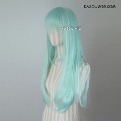 L-2 / SP16 pastel mint green 75cm long straight wig . Tangle Resistant fiber
