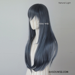 L-2 / SP29 bluish gray 75cm long straight wig . Tangle Resistant fiber