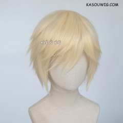 "S-1 / SP08>31cm / 12.2""  short cream blonde  layered wig, easy to style,Hiperlon fiber"