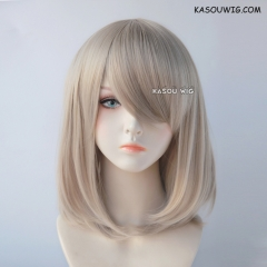 M-1/ SP02 sand blonde long bob cosplay wig. shouder length lolita wig suitable for daily use