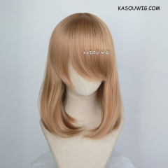 M-1/ KA017 dark natural blonde bob cosplay wig. shouder length lolita wig suitable for daily use