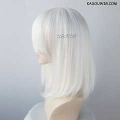 M-1/ KA001 snow white long bob cosplay wig. shouder length lolita wig suitable for daily use