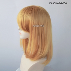M-1/ KA013 light golden long bob cosplay wig. shouder length lolita wig suitable for daily use