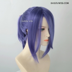 S-3 / KA057 cool purple ponytail base wig with long bangs.