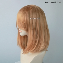 M-1/  KA018 ginger orange long bob cosplay wig. shouder length lolita wig suitable for daily use