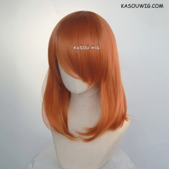 M-1/ KA021 burnt orange bob cosplay wig. shouder length lolita wig suitable for daily use
