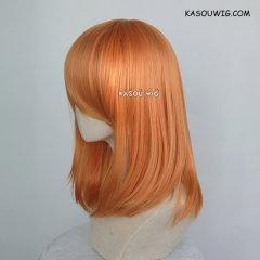 M-1/ KA020 autumn orange  bob cosplay wig. shouder length lolita wig suitable for daily use