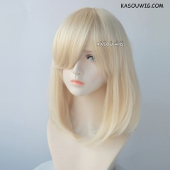 M-1/  KA006 light blonde long bob cosplay wig. shouder length lolita wig suitable for daily use