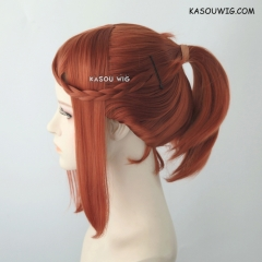 S-3 /  KA022 Copper Penny ponytail base wig with long bangs.