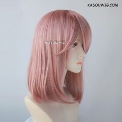 M-1/ KA037 dusty pink long bob cosplay wig. shouder length lolita wig suitable for daily use