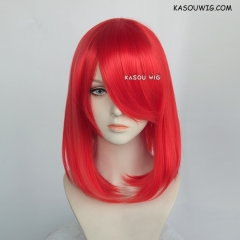 M-1/ KA039  bright red  bob cosplay wig. shouder length lolita wig suitable for daily use