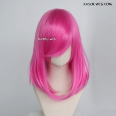 M-1/ KA035 deep pink  bob cosplay wig. shouder length lolita wig suitable for daily use