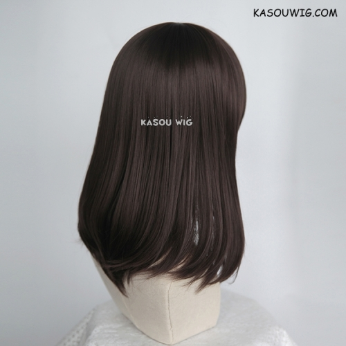 M-1/ KA030 deep brown bob cosplay wig. shouder length lolita wig suitable for daily use