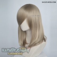 M-1/ SP11 beige blonde long bob cosplay wig. shouder length lolita wig suitable for daily use