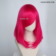 M-1/ KA038 Raspberry rose bob cosplay wig. shouder length lolita wig suitable for daily use