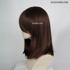 M-1/ KA028 Bistre Brown bob cosplay wig. shouder length lolita wig suitable for daily use
