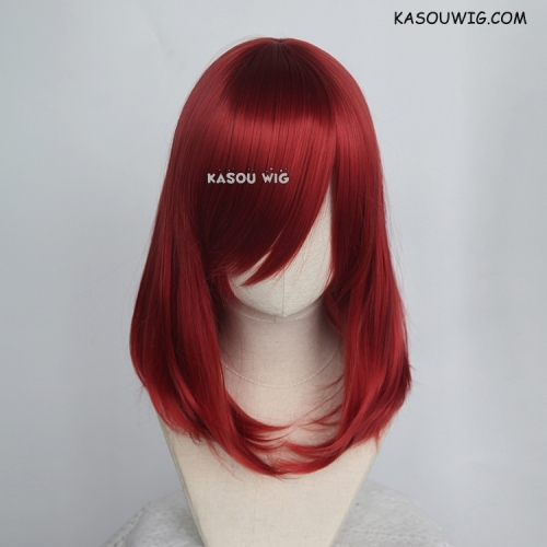 M-1/ KA042 apple red bob cosplay wig. shouder length lolita wig suitable for daily use