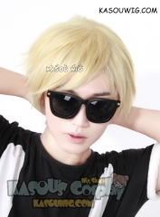 Homestuck Dave Dirk Strider yellow blonde layered wig with long bangs