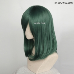 M-1/ KA065 dark olive green bob cosplay wig. shouder length lolita wig suitable for daily use