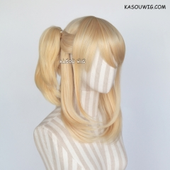 SALE! Fairy Tail Lucy Heartfilia long pre-styled ponytail  yellow blonde cosplay wig. KA008