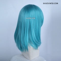 M-1/ KA059 teal blue green bob cosplay wig. shouder length lolita wig suitable for daily use