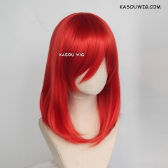 M-1/ KA040 vermillion red bob cosplay wig. shouder length lolita wig suitable for daily use