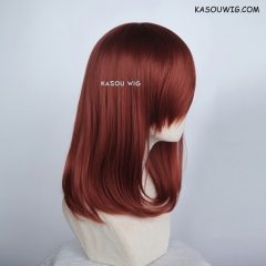 M-1/ KA044 Burnt umber red  bob cosplay wig. shouder length lolita wig suitable for daily use