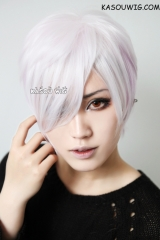 SALE! Diabolik Lovers Sakamaki Subaru short layered white pink ombre cosplay wig