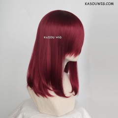 M-1/ KA043 Carmine red bob cosplay wig. shouder length lolita wig suitable for daily use