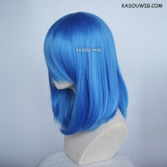 M-1/ KA048 Dodger Blue bob cosplay wig. shouder length lolita wig suitable for daily use