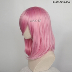 M-1/ KA034 baby pink bob cosplay wig. shouder length lolita wig suitable for daily use