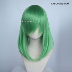 M-1/  KA060 light green bob cosplay wig. shouder length lolita wig suitable for daily use
