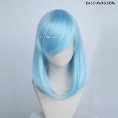 M-1/ KA046 light blue bob cosplay wig. shouder length lolita wig suitable for daily use