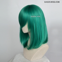 M-1/ KA062 emerald green bob cosplay wig. shouder length lolita wig suitable for daily use