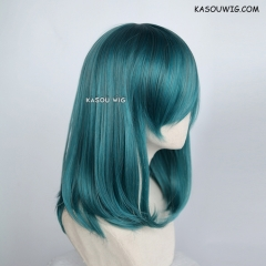 M-1/ KA064 dark green bob cosplay wig. shouder length lolita wig suitable for daily use