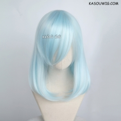 M-1/ KA045 Light Cyan bob cosplay wig. shouder length lolita wig suitable for daily use