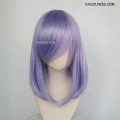M-1/ KA056 pastel Lavender bob cosplay wig. shouder length lolita wig suitable for daily use