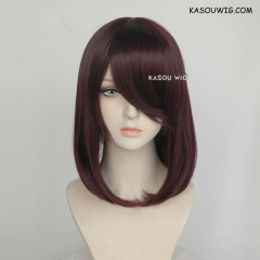 M-1/ KA058 dark reddish brown bob cosplay wig. shouder length lolita wig suitable for daily use