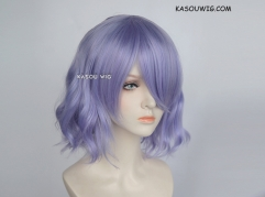 S-4 / KA056 pastel Lavender loose beach waves lolita . harajuku wig with bangs .35cm .