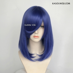 M-1/ KA050 royal blue bob cosplay wig. shouder length lolita wig suitable for daily use
