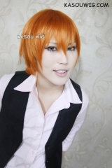 Fruit Basket Kyo Sohma short burnt orange straight smooth cosplay wig / S-2 ( KA021)
