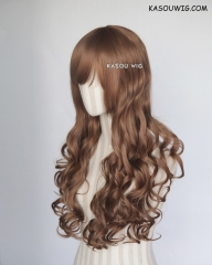 L-1 / KA024 light brown 75cm long curly wig . Hiperlon fiber