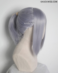 S-3 / SP26 silver Lavender ponytail base wig with long bangs.