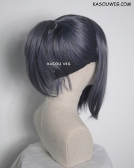 S-3 / SP29 bluish gray ponytail base wig with long bangs.