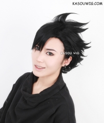 Haikyuu !! Kuroo Tetsurou short black spiky cosplay wig . KA032