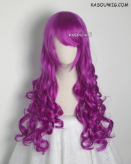 L-1 / KA053 Red Violet Purple 75cm long curly wig . Tangle Resistant fiber
