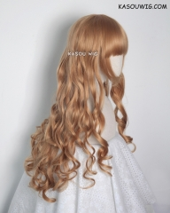 L-1 / KA018 ginger orange 75cm long curly wig . Hiperlon fiber